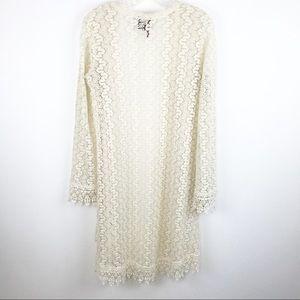 heart n crush Sweaters - Heart N Crush long Lace cardigan
